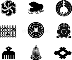 japanese family crests stock vector illustration of black 21895152