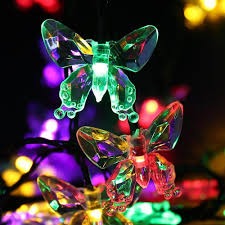 Solar Outdoor Christmas Tree Lights by Cheap Solar Christmas Lights 4 8m 16ft 20leds Butterfly Fairy