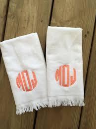 monogram fringe towel chickadee s designs