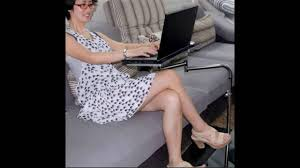 portable computer desk on wheels youtube