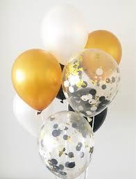 Home Design Nahf Graduation Balloons Black White Gold Latex Balloons Black