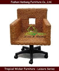 Rattan Computer Desk Swivel Rattan Desk Chair Modern Rattan Swivel Chair With High Back