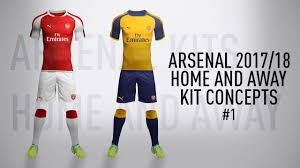 arsenal full 2017 18 kit concept home and away 1 new series