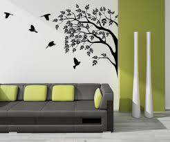 Home Interior Wall Decor Bright Idea Tree Painting On Wall Wall Decoration Ideas