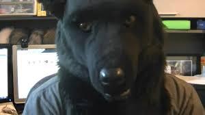 Wolf Mask Black Werewolf Mask Youtube