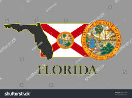 Floridas State Flag Florida State Map Flag Seal Name Stock Vector 85621444 Shutterstock