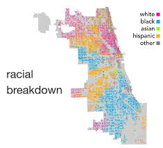 Chicago City Limits Map by Instagram U0027s Blind Spot