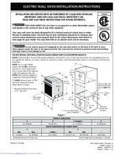 how to install a wall oven in a base cabinet frigidaire feb24s2ab 24 electric wall oven manuals