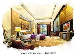 interior sketches sketch perspective interior design sketches painting stock