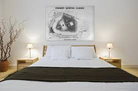 boston bruins bedroom print of vintage fenway park winter classic featuring the boston