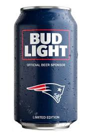 bud light beer can bud light new england patriots nfl team can price reviews drizly