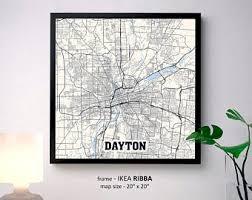 dayton map dayton map etsy