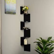 Corner Wall Shelves Zig Zag Corner Shelf Home Interior Wall Decoration