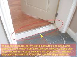 Exterior Door Jamb Door Threshold Strips Exterior Door Threshold Condo