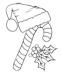 candy cane santa claus hat coloring download u0026 print