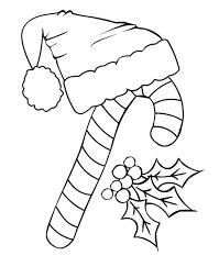 candy cane santa claus hat coloring candy cane santa