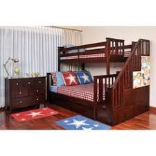 woodland twin over full staircase bunk bed ab567 products