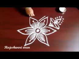 simple deepam rangoli designs with 3 dots for diwali simple