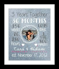 3rd anniversary gift ideas for him any or 3 year anniversary gift 3 year wedding anniversary gifts