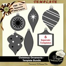 christmas ornaments templates bundle by boop designs boop