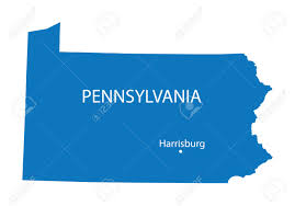 Map Of Pennsylvania by Blue Map Of Pennsylvania With Indication Of Harrisburg Royalty