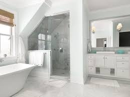 burlington carrara marble tile bathroom transitional with white