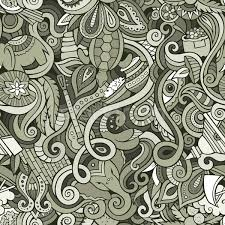 doodle indian doodles indian culture seamless pattern