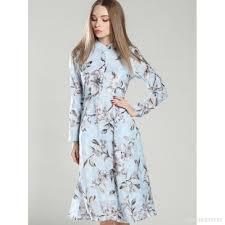 light blue long sleeve dress light blue printed women s long sleeve dress 12677463