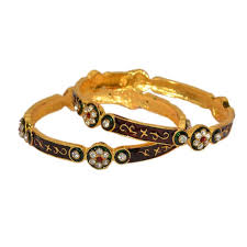 diamond studded buy pourni american diamond studded meena bangles mb100 online