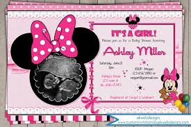 minnie mouse baby shower invitations minnie mouse baby shower invitation its a girl baby shower