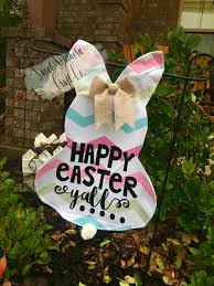 Monogram House Flags Free Shipping Easter Bunny Garden Flag Happy Easter Yall