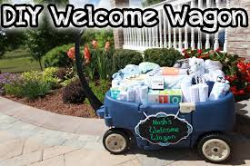 wagon baby diy baby shower idea welcome wagon come save away
