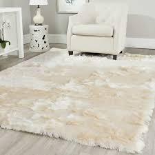 Inexpensive Area Rug Ideas Safavieh Handmade Silken Glam Shag Ivory Polyester Area Rug