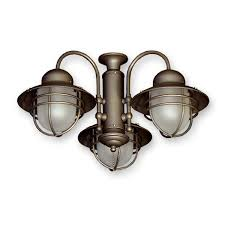 Universal Light Kits For Ceiling Fans by 362 Nautical Styled Outdoor Ceiling Fan Light Kit 3 Finish