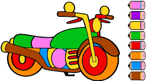 motorcycle coloring page for kids how to draw a motorcycle youtube