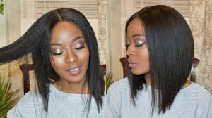 slanted hair styles cut with pictures flirty middle part long angled bob haircut tutorial veryhair com