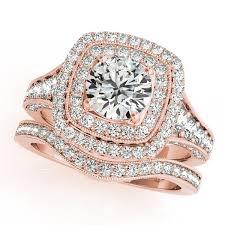 white gold bridal sets square halo diamond ring band bridal set 14k gold 2 20ct