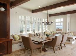 dining bench table dining room accent wall beach dining room
