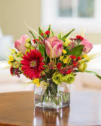 gerbera daisy u0026 tulip silk flower centerpiece at petals
