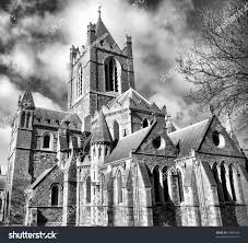 christ church dublin ancient gothic cathedral stock photo 67885186
