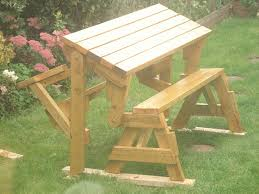Folding Picnic Table With Benches Intriguing And Good Folding Bench And Picnic Table Combo Intended