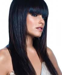 long dark hairstyle with bangs long black hairstyles with bangs
