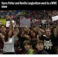 Neville Longbottom Meme - harry potterand neville longbottom went to a wwe show odstafi