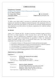 Sample Resume Format For Experienced It Professionals by Prakash Cv