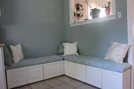 small corner kitchen banquette idea with pink seating the most