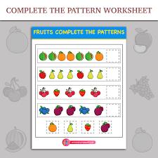 complete the patterns worksheet inky treasure