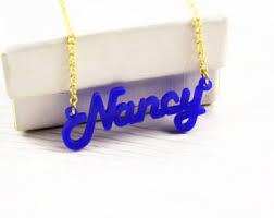 Acrylic Name Necklace Acrylic Necklace