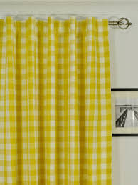 moonbay small plaids back tab cotton curtains