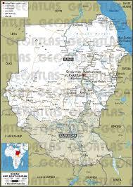 Map Of Sudan Geoatlas Countries Sudan Map City Illustrator Fully