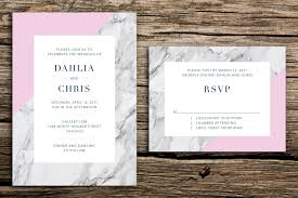 modern marble wedding invitation set modern wedding